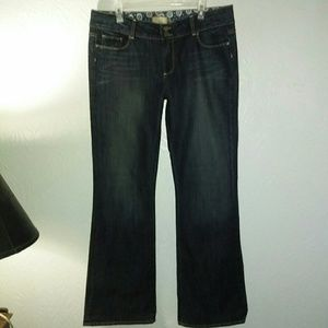 New Paige Jeans 18 \34 Hidden Hills Flare Stretch